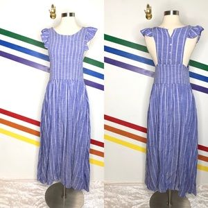 NEW Free People button back striped dress